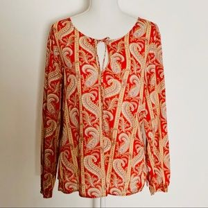 NAUTICA JEANS CO.-Paisley Cotton Tunic. Size Large